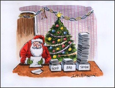 Papa Noel también recibe Spam