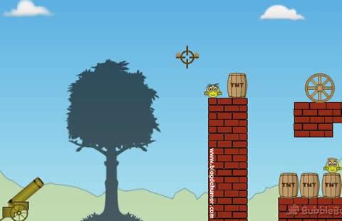Juego de lanza bombas con cañón