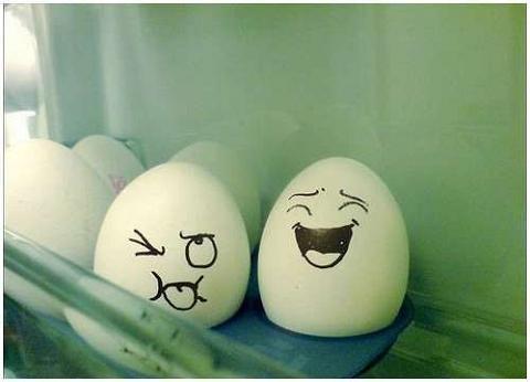 Huevos con caritas graciosas xD - Taringa!