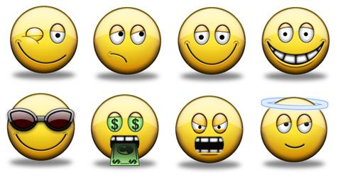 emoticones animados de humor: