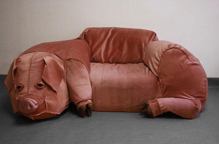 sofa cerdo Sofá con forma de cerdo
