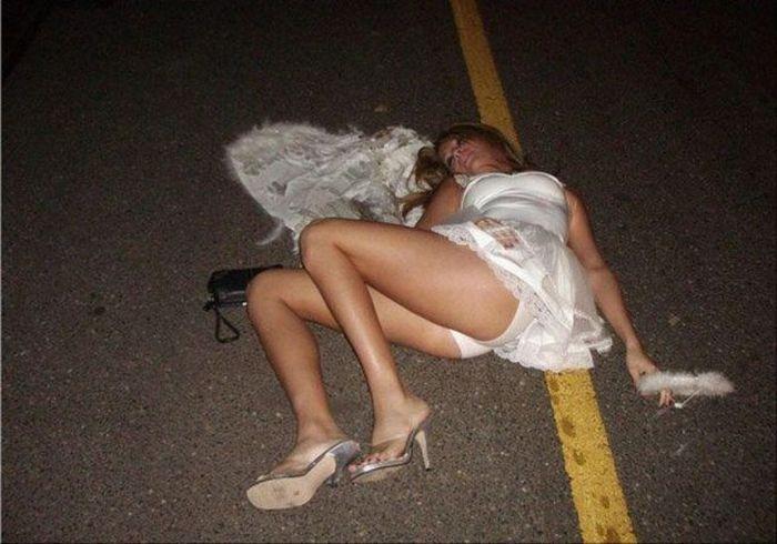 Chica borracha jodida