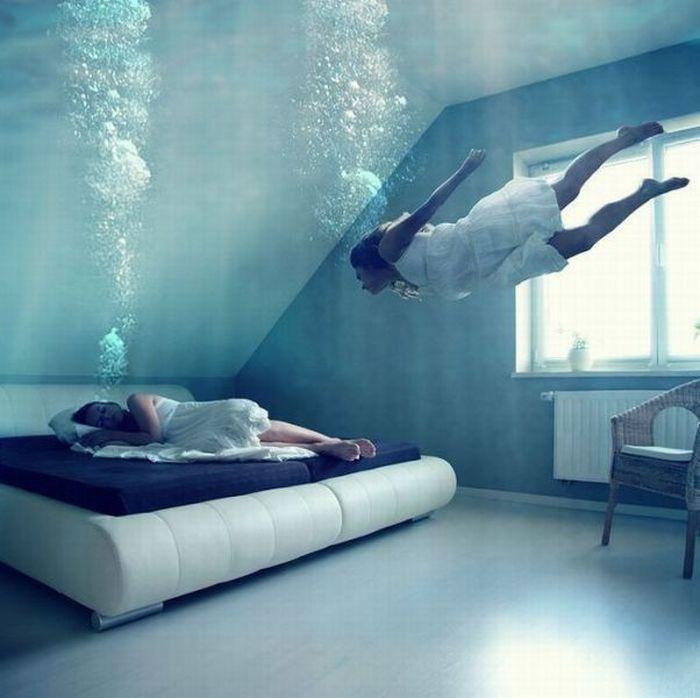 dormir bajo agua Domir bajo el agua