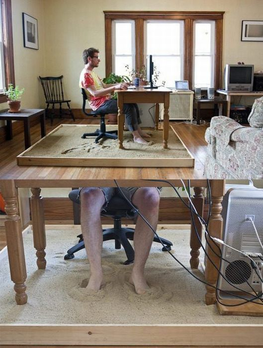 Oficina en la playa for Camara oculta en la oficina