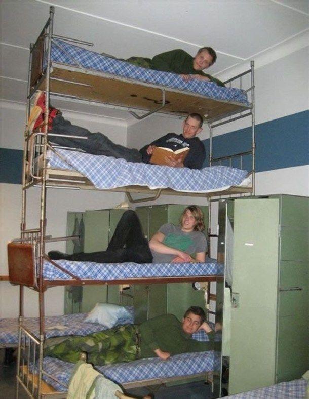 litera con cuatro pisos Litera de cuatro pisos
