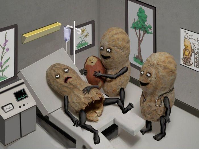 Alérgico a los cacahuetes