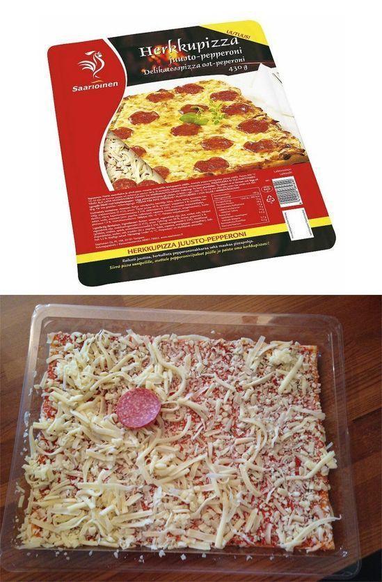pizza con poco peperoni Pizza con poco pepperoni