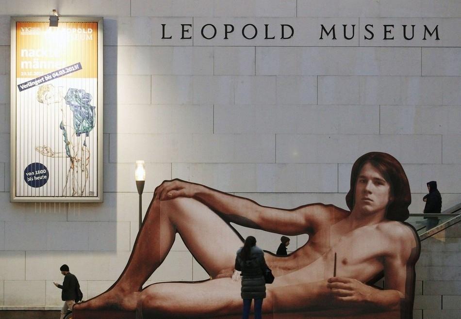 Hombres Desnudos En El Leopold Museum