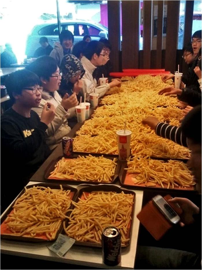 Ración extra grande de patatas fritas