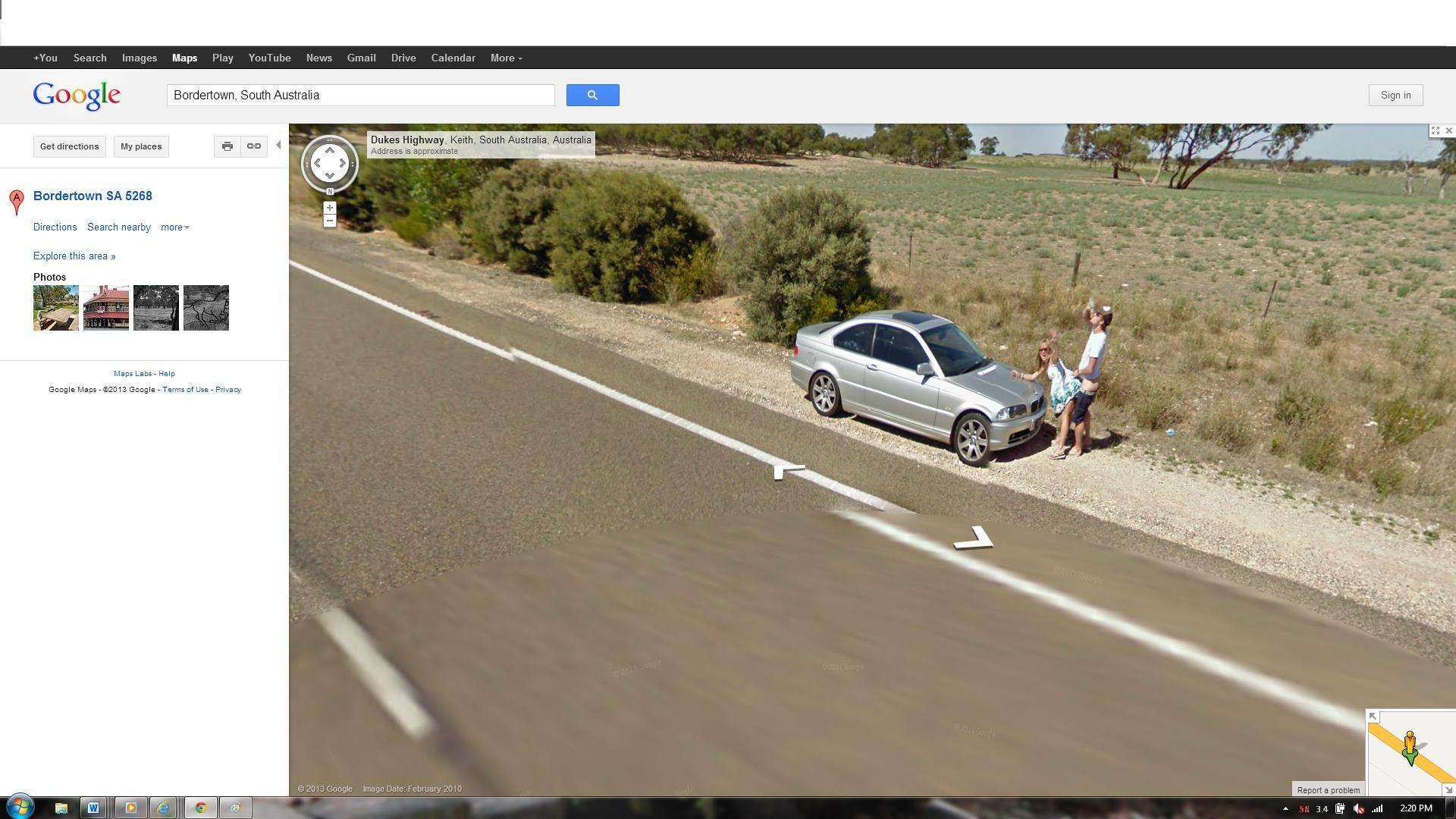 Pillados en Bordertown utilizando Google Maps