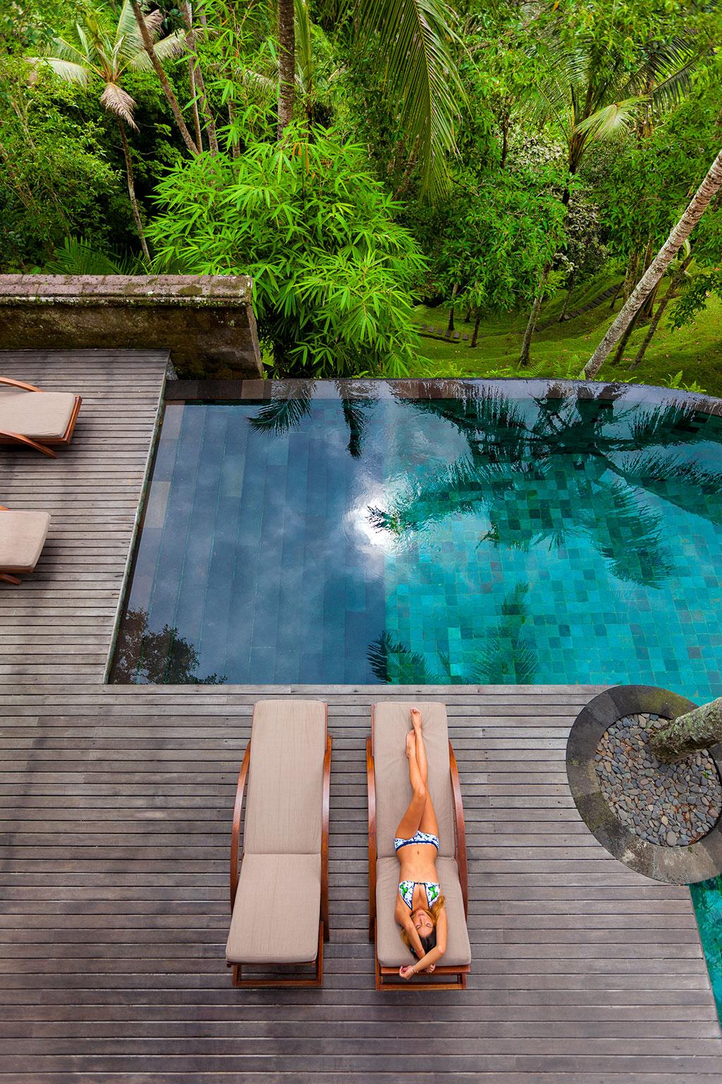 Casa con piscina en mitad de la selva for Piscina la selva