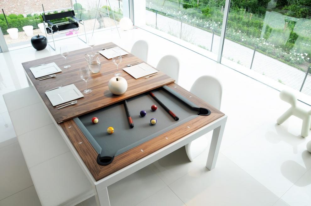 Mesa de comedor que se convierte en mesa de billar for Comedor que se extiende