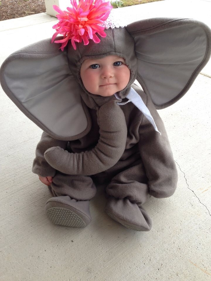 Disfraz de elefante para beb s - Como hacer un disfraz de bebe ...