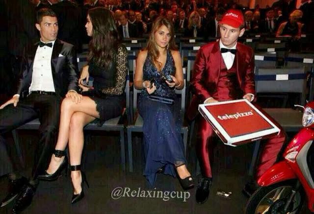 foto de Messi como un repartidor del Telepizza