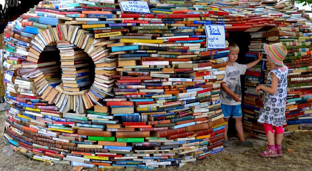 casa hecha con libros
