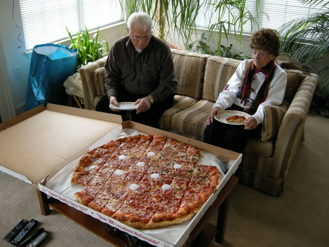 pizza para varias familias