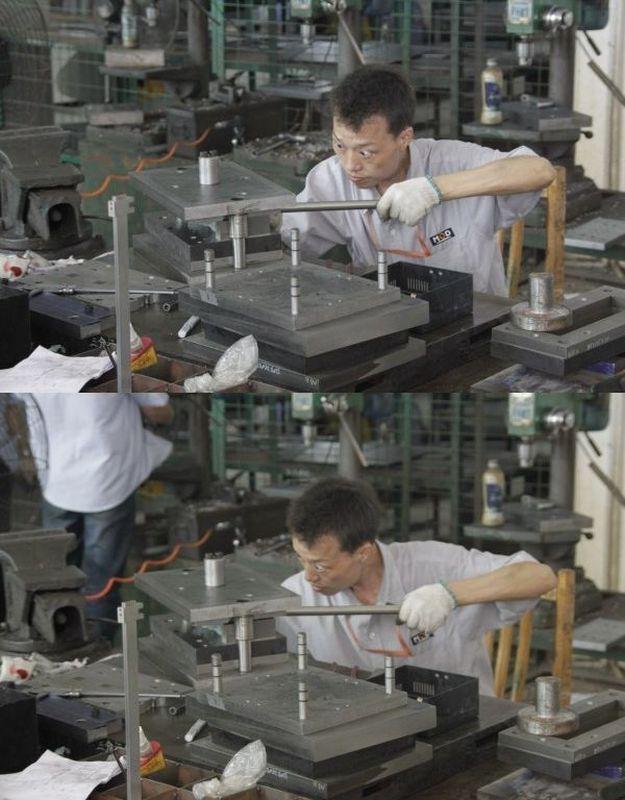 trabajador concentrado