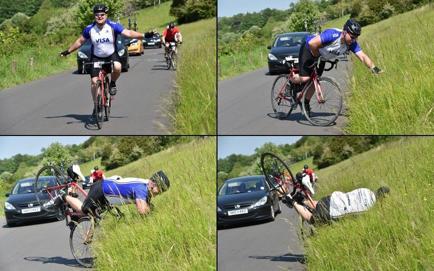 caida tonta en bici