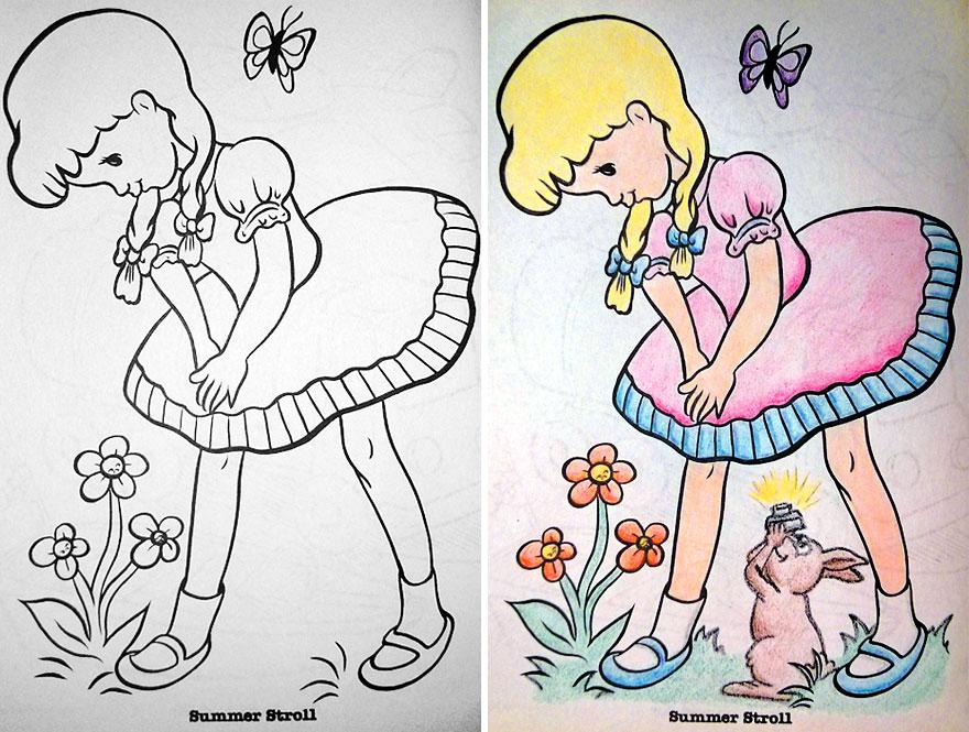 dibujos pintados por adultos