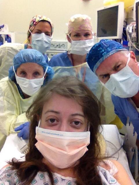 selfie antes de una operacion