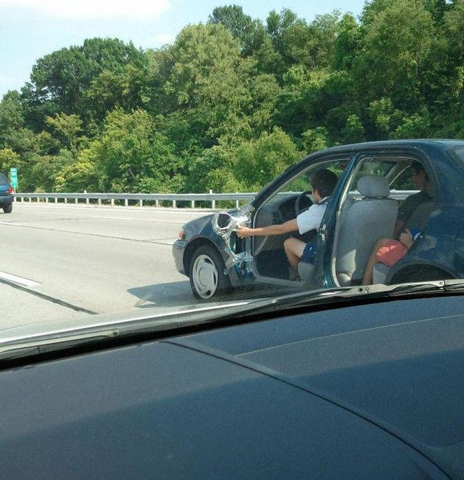coche sin puertas