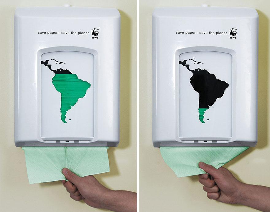 creatividad publicitaria de Save the Planet