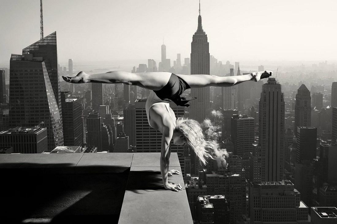 gimnasia en un rascacielos