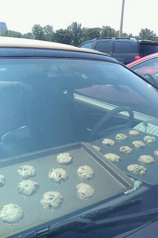 galletas en el coche