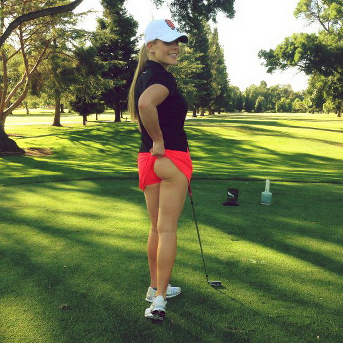 jugadora de golf