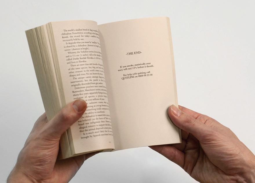 libro con final para fumadores