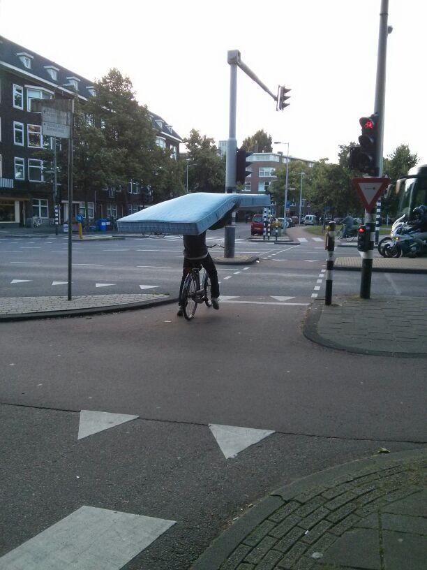 colchon en bici