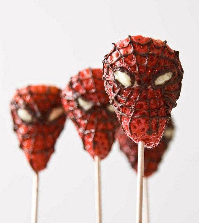 fresas Spider-Man