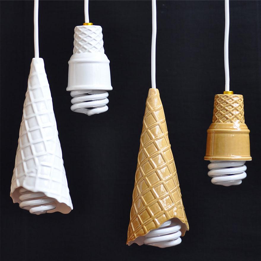 lamparas con forma de cucurucho