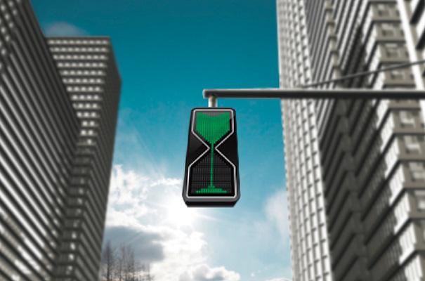semaforos con reloj de arena digital