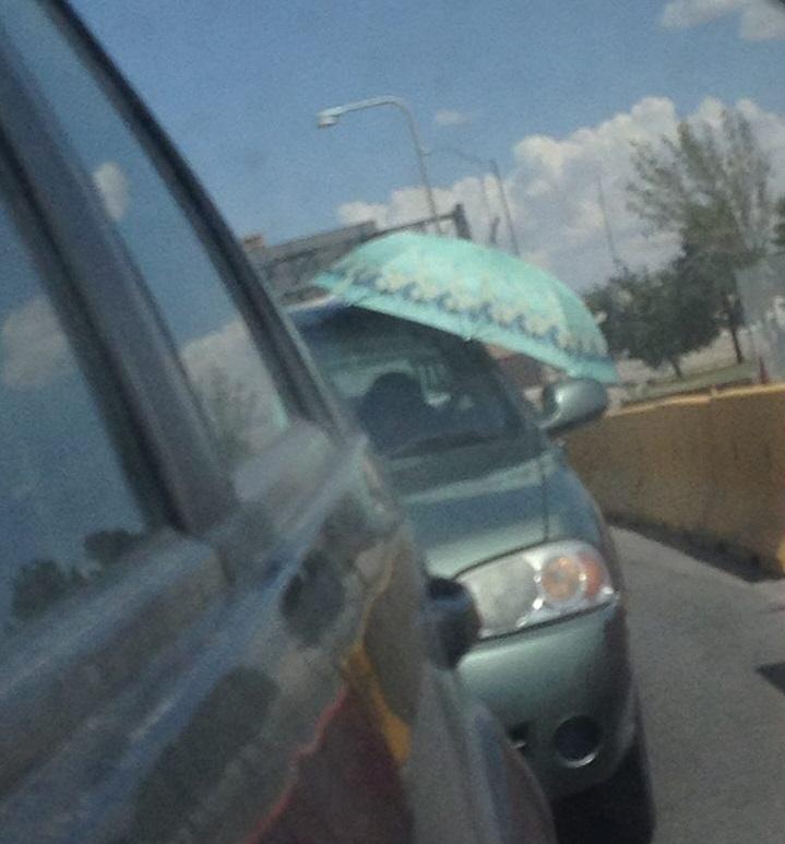 paraguas coche
