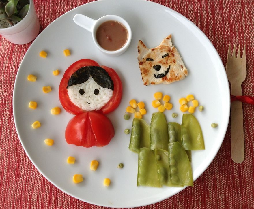 platos de comida creativos