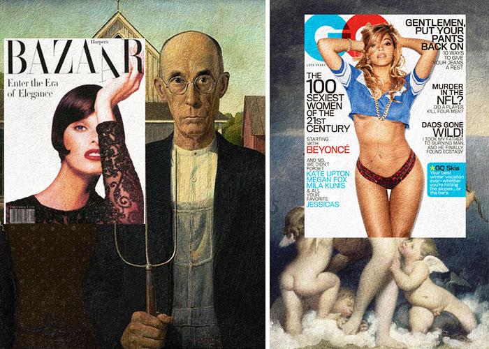 portadas de revista en cuadros clasicos 11