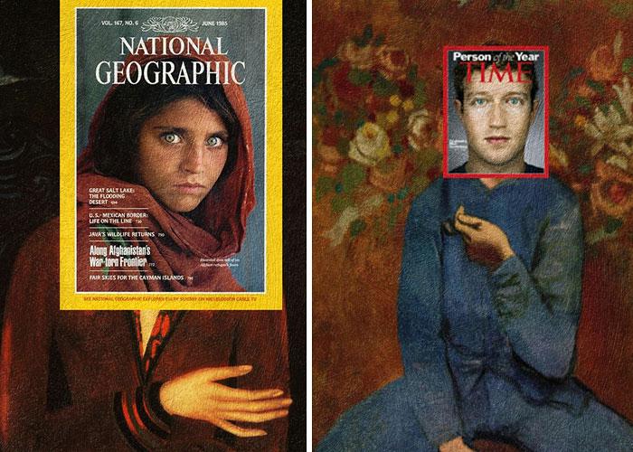 portadas de revista en cuadros clasicos 4