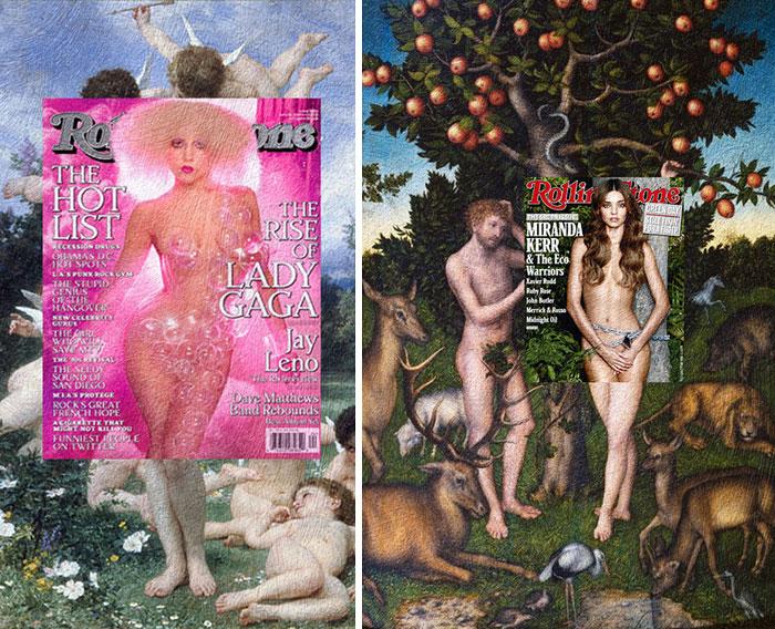 portadas de revista en cuadros clasicos 6