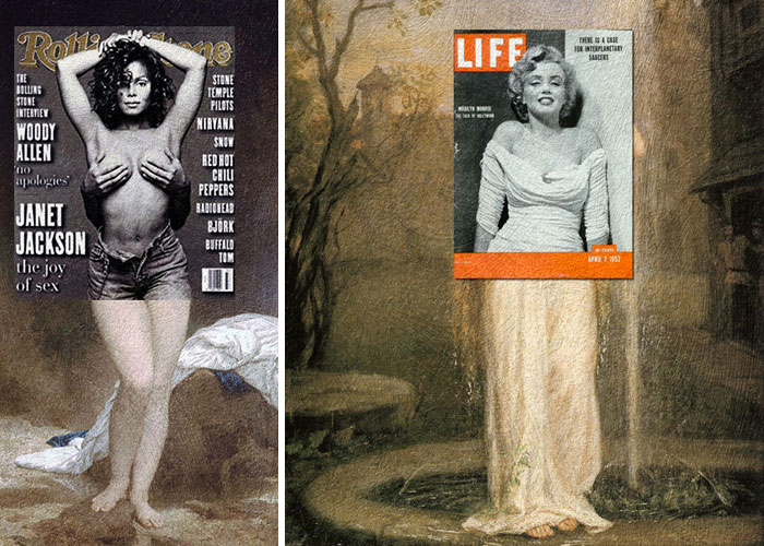 portadas de revista en cuadros clasicos 8