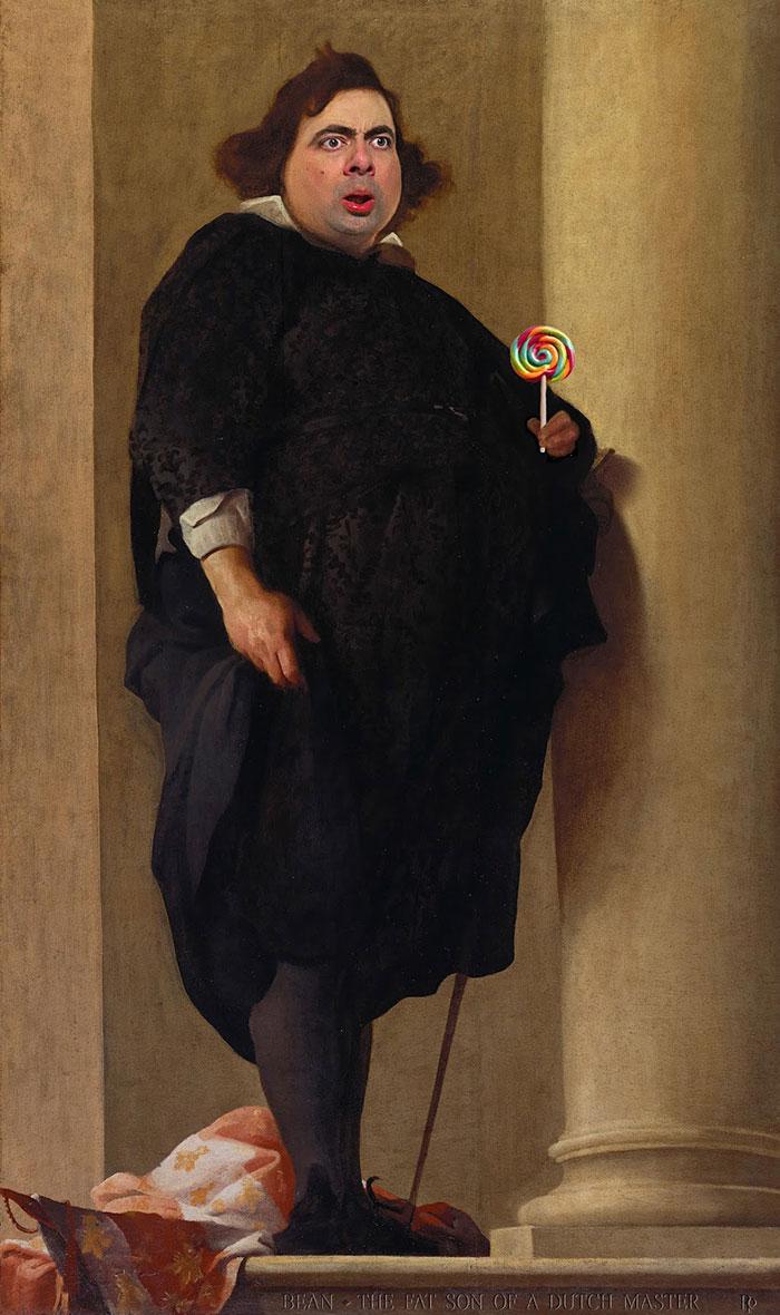 Mr Bean en retratos historicos 10