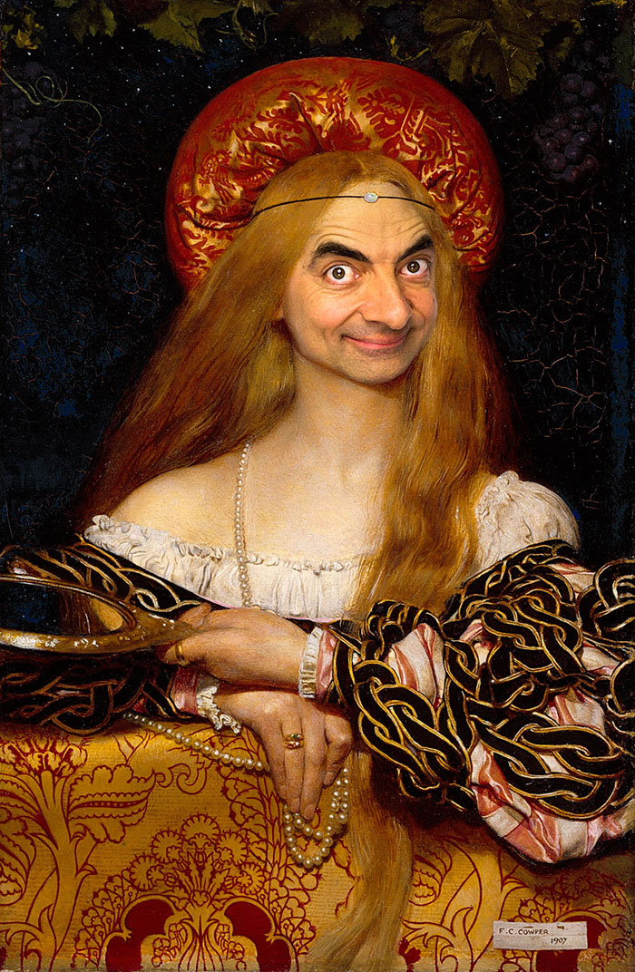 Mr Bean en retratos historicos 2