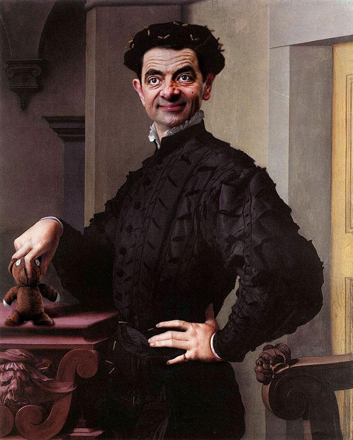 Mr Bean en retratos historicos 4