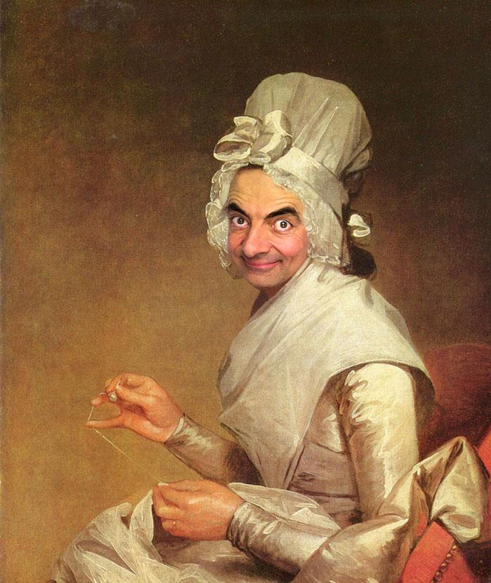 Mr Bean en retratos historicos 5