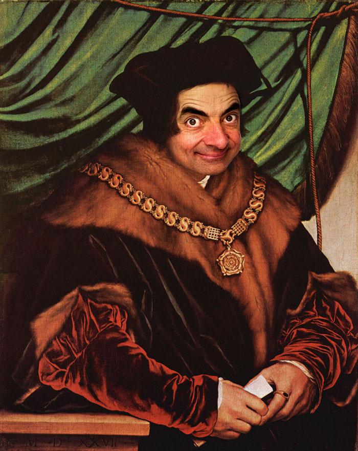 Mr Bean en retratos historicos 6