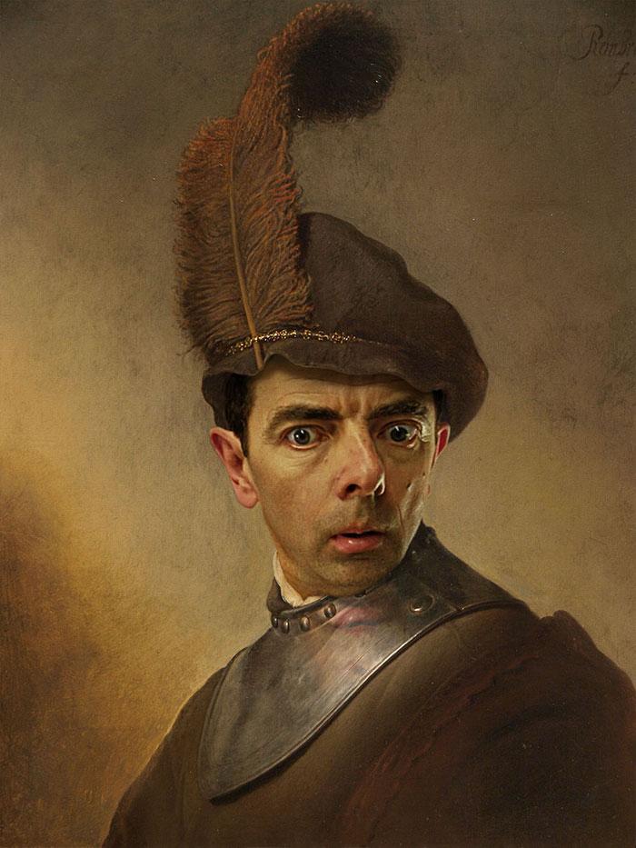 Mr Bean en retratos historicos 7