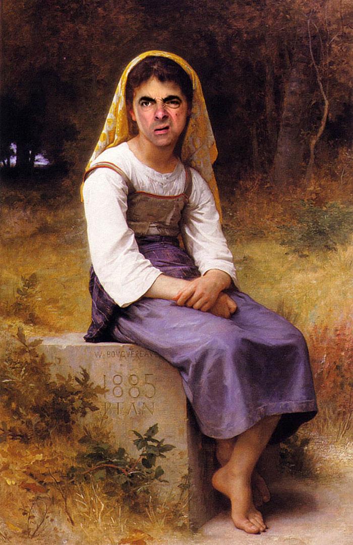 Mr Bean en retratos historicos 8