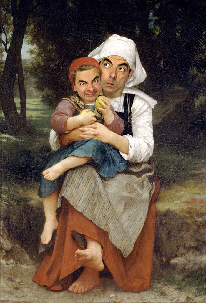 Mr Bean en retratos historicos 9