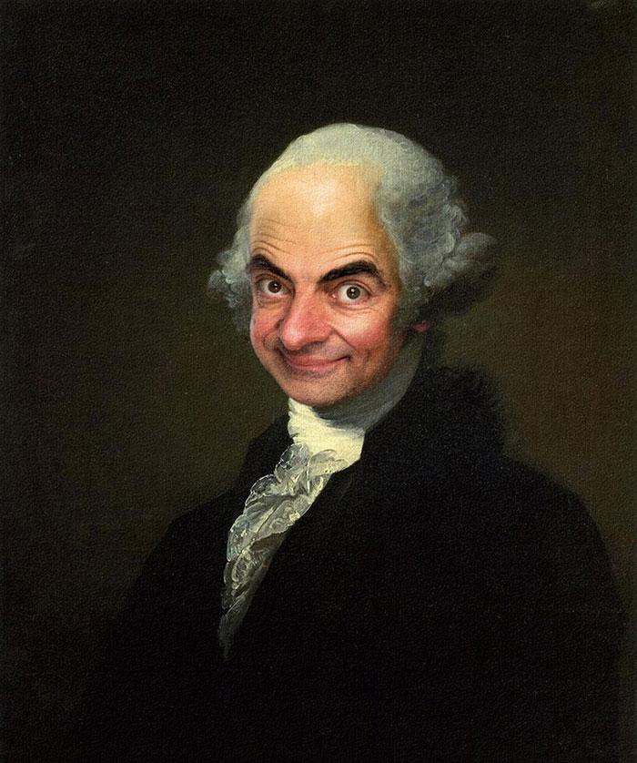 Mr Bean en retratos historicos
