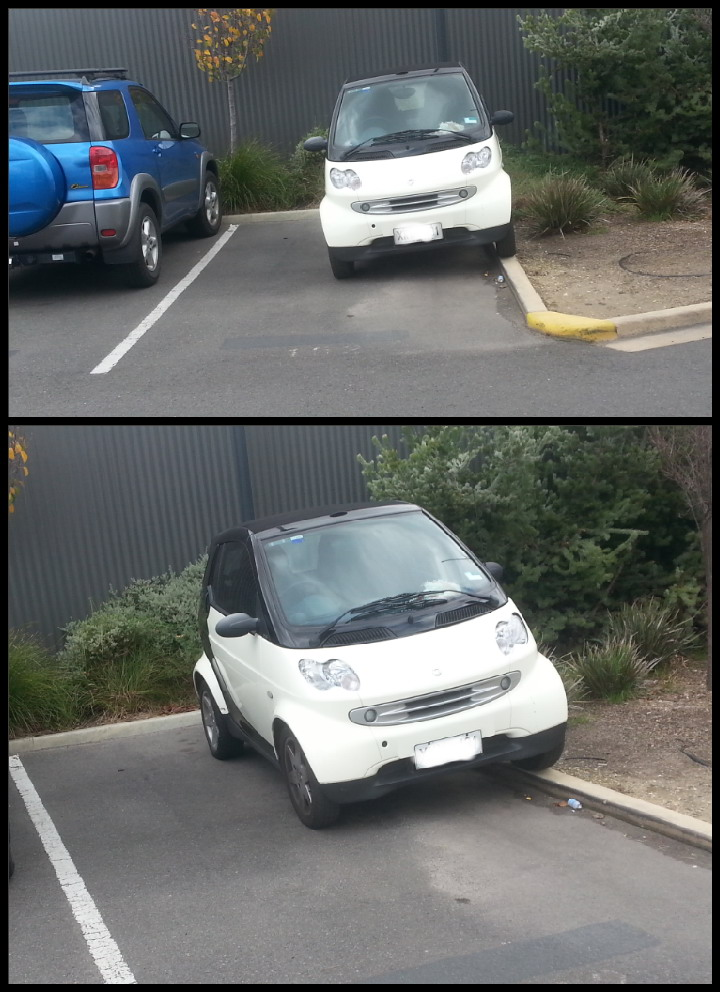 aparcar mal con ganas